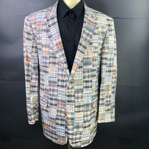 JoS A Bank Men 52L Kentucky Derby Patchwork Blazer